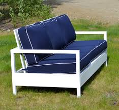 white outdoor furniture. features relaxed seats with modern styling and deep cushions this simple free easy step by plan is an affordable alternative to designer furniture white outdoor