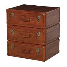 Suitcase With Drawers Houseology Collection Vintage Leather Suitcase Chest Of Drawers