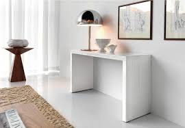 examples of simple inspiration for the design modern white lacquer console table