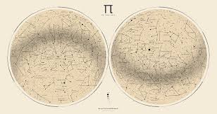 2017 Pi Day Star Chart Azimuthal Projection 1