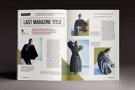 Indesign Magazine Templates Magazine Brochure Indesign Templates On Behance
