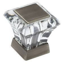 cabinet knobs silver. Amerock Abernathy Antique Silver Square Cabinet Knob Knobs