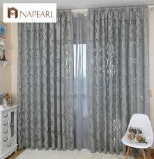 Napearl Moderne Dekorative Vorhänge Jacquard Grau Vorhänge Fenster