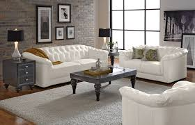 Awesome White Leather Living Room Furniture Images - Leather livingroom