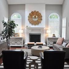 family room with light grey walls