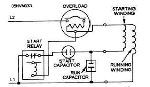 schematic wiring diagram of a capacitor start capacitor run motor