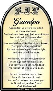 Grandpa Quotes Simple Rip Grandpa Poems