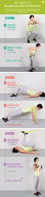 33 Resistance Band Exercises Legs Arms Abs Back Chest