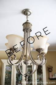 how to clean a brass chandelier without taking it down