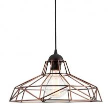 industrial harlow cage light copper