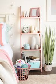 furniture ladder shelves. furniture hack cheap wooden ladder shelves sprayed with rose gold spray paint from rust c