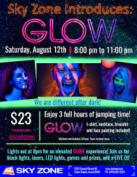 glow flyer sky zone glow flyer on behance