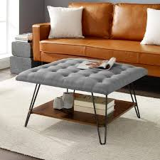 excelent tufted ottoman coffee table