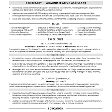 Administrative Support Resume Examples Best Of Executive Secretary Resume Sample Singular Free Assistant Templates