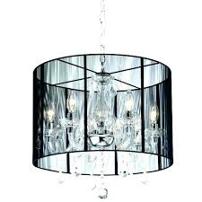 crystal chandelier with shade ceiling lights