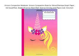 Unicorn Composition Notebook Unicorn Composition Book For School Rai