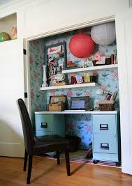 office closet. 10 Ways To Turn Your Closet Into An Office Brit Co