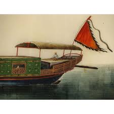chinese folio five gouache rice paper paintings