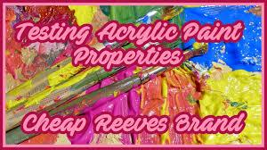 let s test acrylic paint reeves acrylics alternative artist