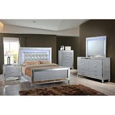 Mirror Finish Bedroom Furniture This Panel Bedroom Set Features A Silver  Finish With Mirror Accents On . Mirror Finish Bedroom Furniture ...