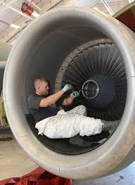 reserve engine shop runs full throttle turbine engine mechanic