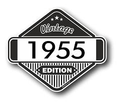 Classic Sticker Design Vintage Edition 1955 Classic Retro Cafe Racer Design External Vinyl Car Motorcyle Sticker 85x70mm