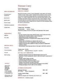 manager qa resume qa resume template
