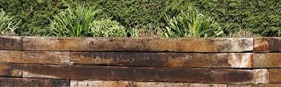 using railway sleepers in your garden