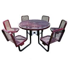 commercial outdoor 46 round table with chairs select your color