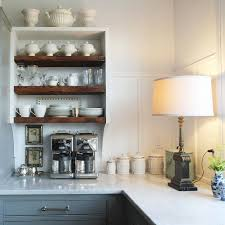 nancy keyes fabulous kitchen with a wonderful vintage table lamp on the kitchen counter