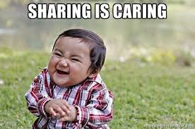Sharing is Caring - Evil Asian Baby | Meme Generator via Relatably.com