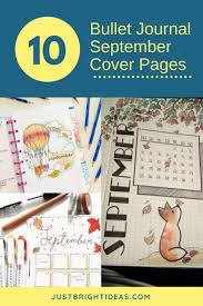 art cover page ideas 10 september bullet journal cover pages to inspire you