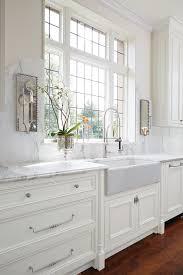 Farmhouse Kitchen Hardware White Marble Kitchen Not Those Sconces Farm Apron Sink Or