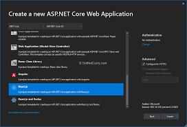 Aspx Templates Free Download Asp Net Core Vue Cli Templates Dotnetcurry