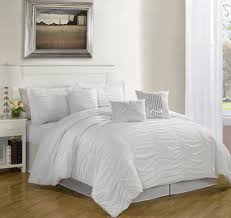 White Bed Comforter Sets & White Bed Comforter Sets Enchanting On Modern Home Decoration With 7 Piece  Queen Hermosa Ruffled Set Adamdwight.com