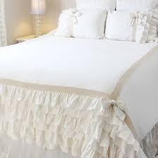 ivory white ruffle duvet cover set