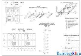Газоснабжение района города Евпатория курсовая работа Аксонометрическая схема внутридомового газопровода Схема