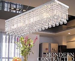 luxury rain drop rectangle clear k9 crystal chandelier