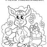 Paasei Vrolijk Pasen Kleurplaat Kleurplaat Voor Kinderen