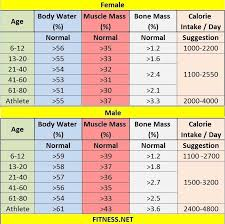 Fat Water Muscle Percentage Chart Pin On Bodybuilding