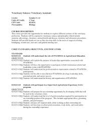 Veterinary Technician Resume Examples Biological Scientists