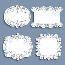Paper Frames Templates Paper Picture Frames Successatwork Co