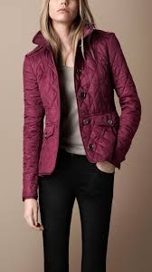 Burberry brit Fitted Quilted Jacket in Purple | Lyst & Gallery. Women's Quilted Jackets Adamdwight.com