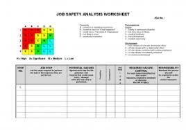 Job Hazard Analysis Worksheet Example Of A Hazard Analysis And Haccp Hazard Analysis Worksheet
