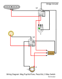 1 single coil (with 1 vol and 1 tone), 1 piezo (with 1 vol), 3 way Guitar Wiring Diagrams 1 Pickup 1 single coil (with 1 vol and 1 tone), 1 piezo (with guitar wiring diagrams 1 pickup 1 volume 1 tone