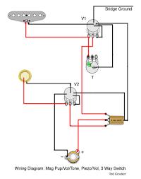 1 single coil 1 vol and 1 tone 1 piezo 1 vol 3 way 1 single coil 1 vol and 1 tone 1 piezo