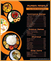 Zoom Indian Menu Template Free Restaurant Card Templates Download