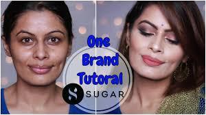one brand makeup tutorial sugar cosmetics indian wedding guest makeup kavya k
