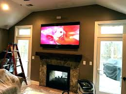 fireplace into brick mounting flat screen tv ove how to