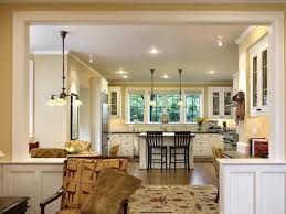 ... Inspiring Ideas For Open Kitchen And Living Room With Small Rug And  Ceiling Lamps